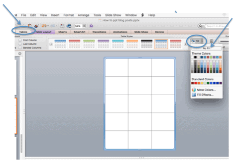 create a table in powerpoint