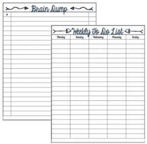 To-do List and Brain Dump