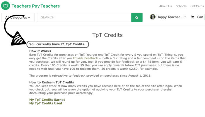 Getting resources free on TpT