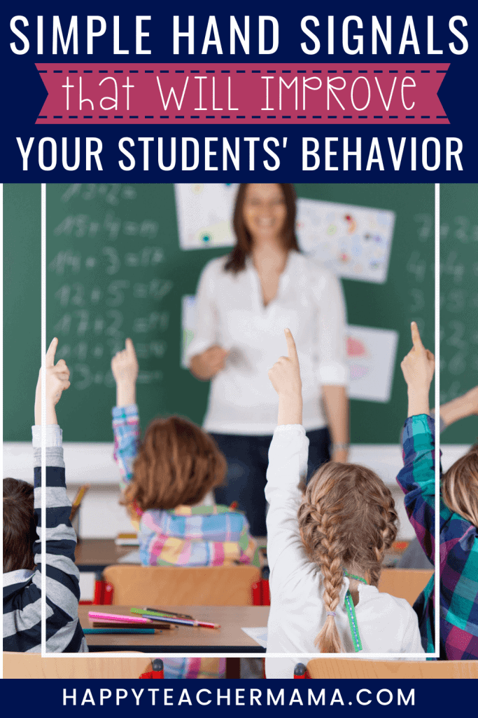 Effectively managing classroom behavior is essential...especially for new teachers. Using and teaching hand signals in the classroom is one of the easiest management techniques to employ for the greatest return. Learn how to implement hand signals into your classroom routine today! #handsignals #classroommanagement #teaching