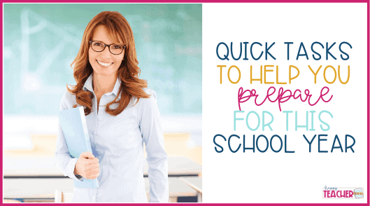10 Minute Tasks to be Prepared This School Year
