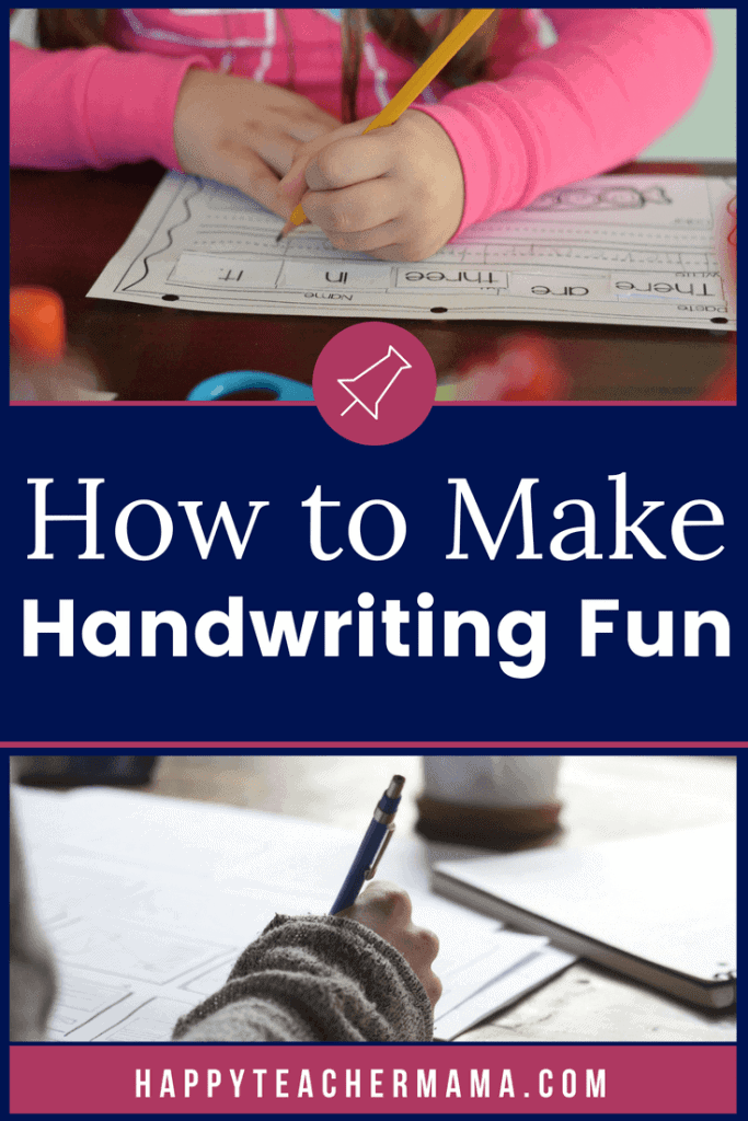 When I was growing up, students learned how to print letters properly in kindergarten and learned cursive in third grade. However, most schools are no longer focused on teaching handwriting, so it is important that we find tips and ideas for making it fun through hands-on activities. My kids can't wait to add slime and shaving cream to their handwriting lessons!! #handwriting #teaching #alphabet #writing