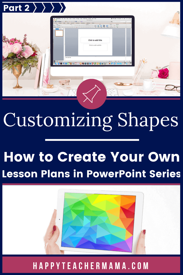 Part 2 of my series on creating time-saving lesson plans is all about creating customizable shapes. While this may not seem like an important feature, you will find out just how invaluable it is! Discover how to create these shapes in PowerPoint step-by-step. #teaching #homeschooling #lessonplans #lessons #PowerPoint