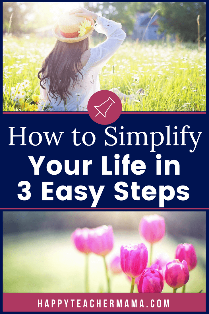Do you ever feel like your life is hectic and complicated?  Do you desire to simplify your home and life?  You have the power to do just that, but it means you will need to make some changes.  Discover the 3 most effective things you can do today to simplify your life (even with kids)!  #simplify #moms #women #home
