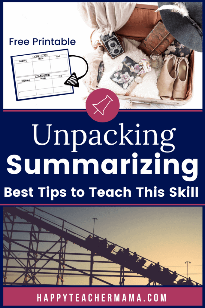 Summarizing is a skill that just doesn't come naturally, and therefore, has to be taught! Whether your kids are working with nonfiction, fiction, or informational text, graphic organizers are the perfect tool to help with reading comprehension. Find a FREE PRINTABLE and easy to implement tips (including one for your kinesthetic learners) to teach this tricky skill. #summarizing #readingcomprehension #teaching #freeprintable