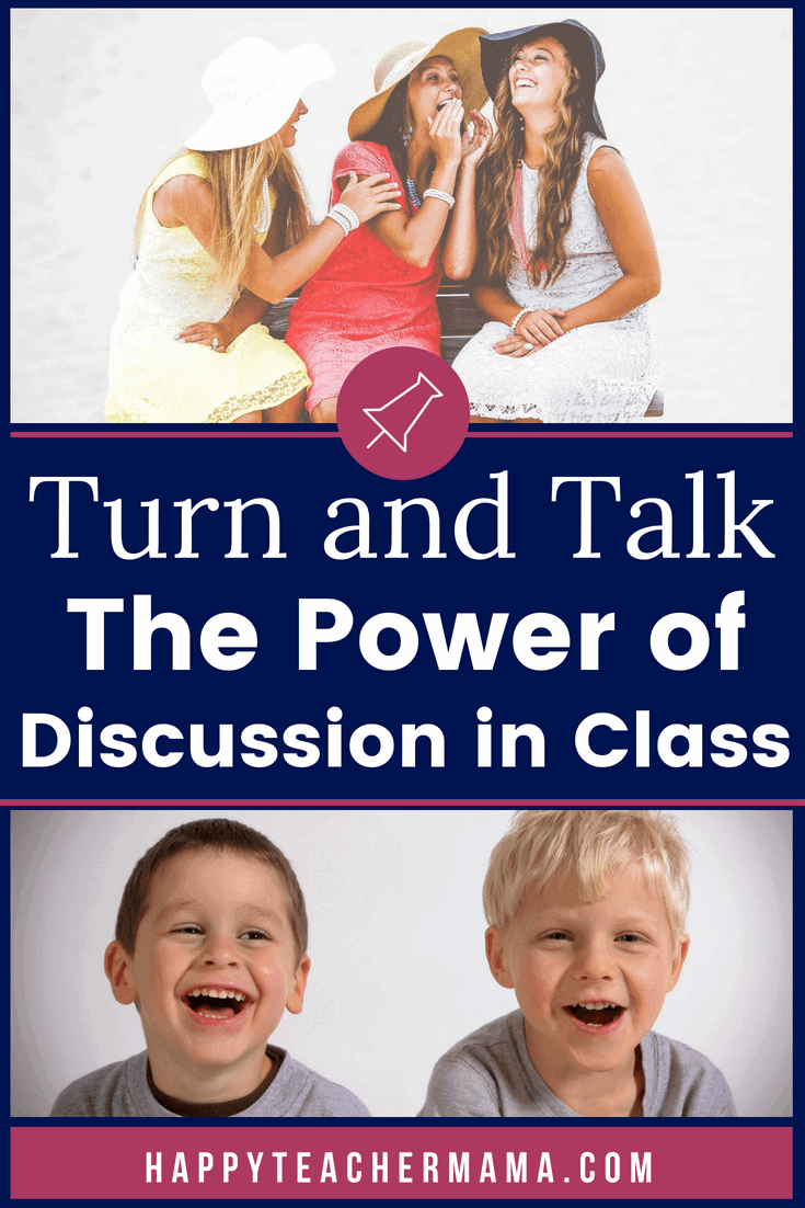 Do you encourage talking during school?  If you're like most teachers, you're trying to keep the talking to a minimum so that you can teach.  But, did you know that implementing an activity called Turn and Talk could actually help the children in your class?  Find out what makes this technique so useful and how partners are critical. #teachingtechniques #Homeschooling #talking #classroom