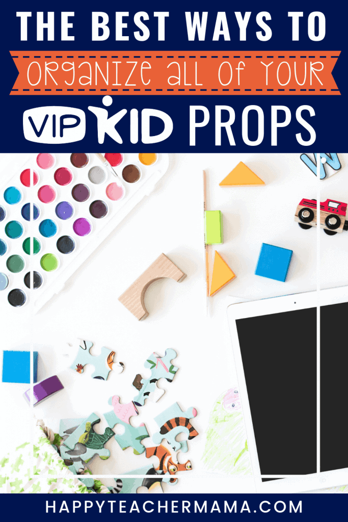 VIPKID printable props are an essential part of your VIPKID classroom.  As an online ESL teacher, you'll find yourself using them in your teaching and reward systems daily.  While you will have an abundance of props to corral, it is possible to take control of the chaos.  I've discovered 3 easy ways to finally create the organization we crave, and number 3 is my greatest secret weapon in taming the paper clutter!  #VIPKID #organization #esl #virtualteacher