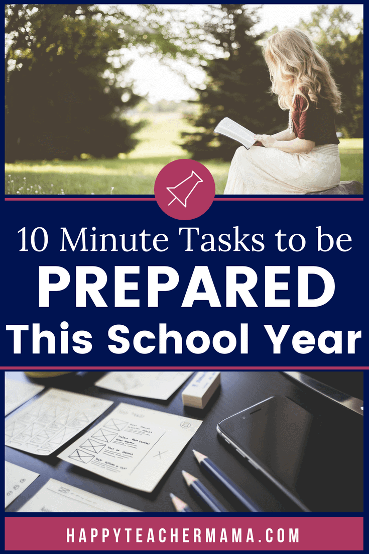 Prepping for each school year can be a daunting task at best.  But, did you know there are little things you could be doing NOW that will pay huge dividends when school starts back?  Discover how to spend just 10 minutes on specific tasks that will make your life so much easier and create the best transition from summer you have ever had.  #teaching #classroom #teacher #backtoschool