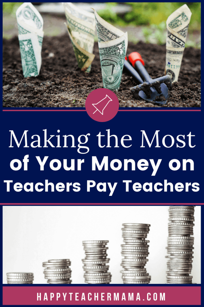 "As teachers and homeschoolers, it is imperative that we stick to a budget. Unfortunately, we all get distracted by the ""shiny things"" we see when searching for educational resources on Teachers Pay Teachers. Find out how to save money on TpT with these tips and tricks. #TpT #budget #savingmoney #teaching"