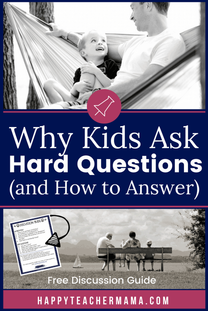 Kids learn to develop their worldview based on difficult questions they ask us. Unfortunately, they never give us fair warning or time to prepare! Discover why they are asking you these questions and how to respond appropriately even when you feel totally blindsided. Extend the conversations with a FREE printable discussion guide. #worldview #kids #conversations #free #printable