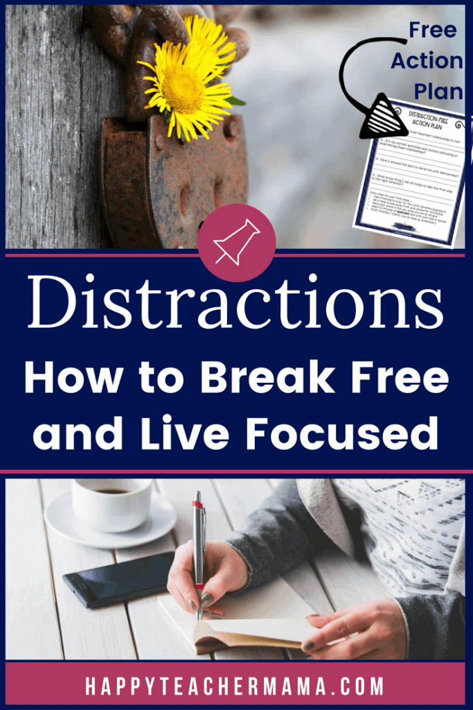 Are you constantly distracted from the amazing life right in front of you? Do you find yourself going to sleep at night regretting the amount of time you didn't spend with your family? Do you want to live a full life, but don't know where to begin? If so, you are ready to get control of the distractions and regain focus by taking action! This free printable guide will help you create an action plan and start gaining traction today! #distractions #focus #free #connection #unplug