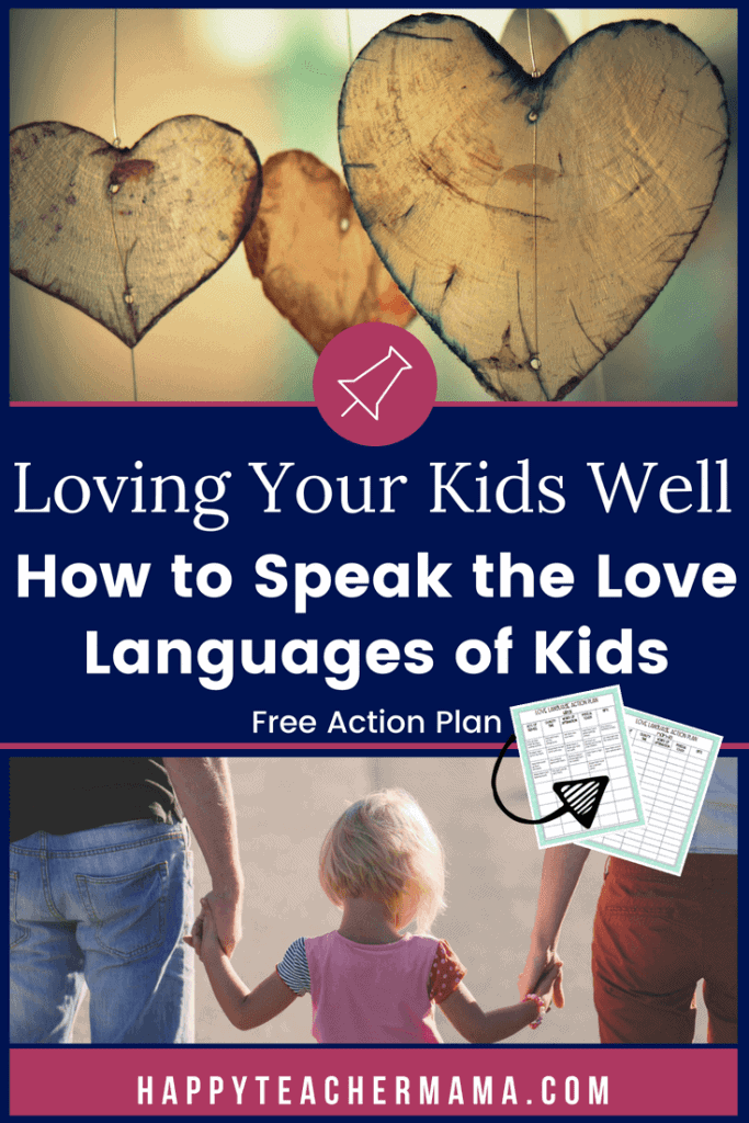 We all feel and express love in different ways. Whether you're a classroom teacher wanting to connect with your students through their love languages or a parent wanting ideas and activities to incorporate into your daily routine, find just what you need in this kids' love languages action plan and free printable. #lovelanguages #parentingtips #kids #teaching