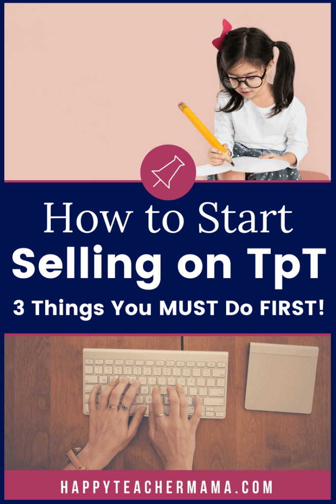 Creating resources that help each student in your classroom is the goal of many teachers. Learning how to actually sell those amazing educational products is another thing entirely. While selling on Teachers Pay Teachers is not difficult, I share the essential first 3 steps you need to open a shop on TpT. #Teacherspayteachers #sellingonTpT #TpT #howtosellontpt