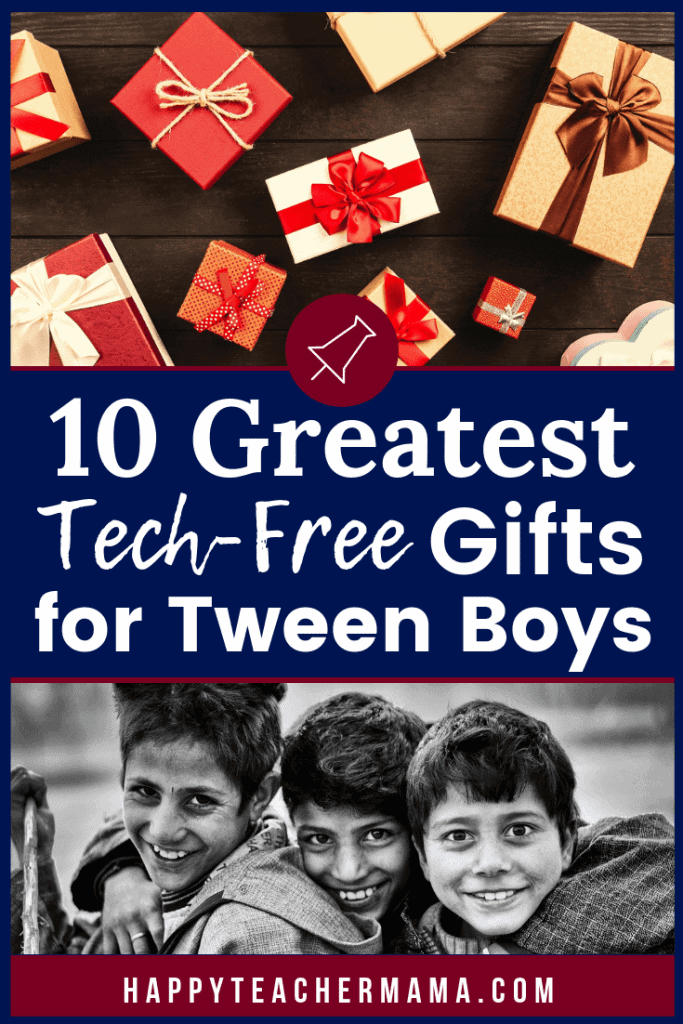 Finding tech-free gifts for tween boys is no easy feat! Whether it is for a birthday gift or a Christmas present, most guys this age want something electronic. However, there are some awesome alternatives if you just think outside the box. Discover 10 awesome tech-free gifts for tween boys that you may have never considered. #techfree #giftguide #Christmas #holidays