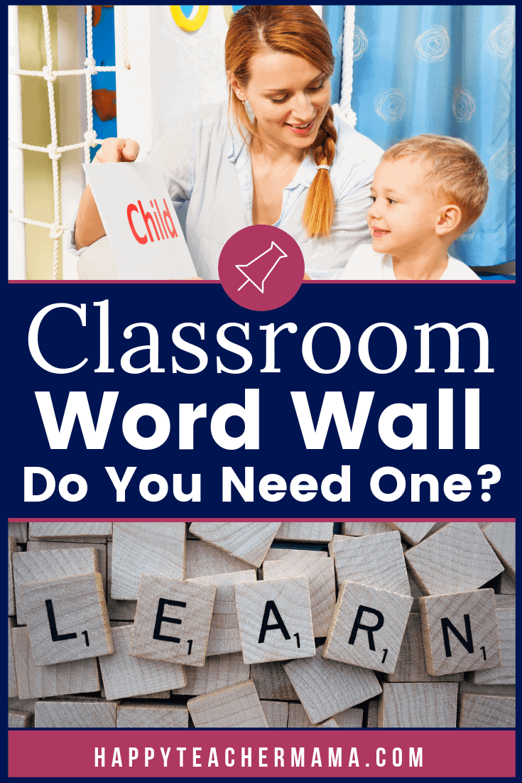 Having a classroom word wall display is mandatory in many schools, but what is it?  And which words do I need to include if I choose to have one?  Should you have one even if you teach kindergarten?  How about high school?  Find the answers to all of your questions, as well as links to adorable farmhouse header cards and free word lists! #wordwall #reading #classroomdecor #teaching