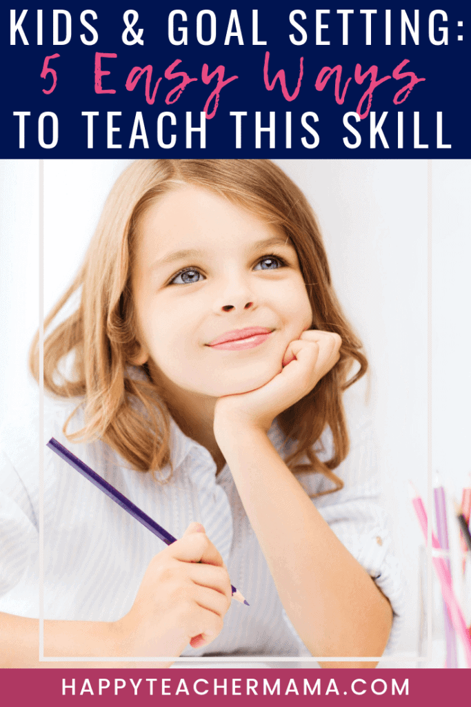 Teaching kids goal setting is no easy feat. Whether it's general school goals or specific learning goals, students need to know how to set SMART goals and learn how to achieve them. As teachers, we need to provide them with tips and ideas. Then we need to give them ample time to practice these skills. Find out how to do just that! #goalsetting #kids #teaching