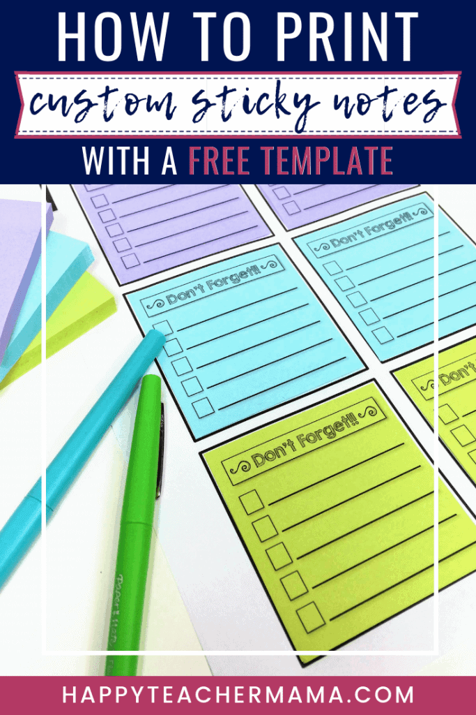 How To Print Custom Sticky Notes With A Free Template