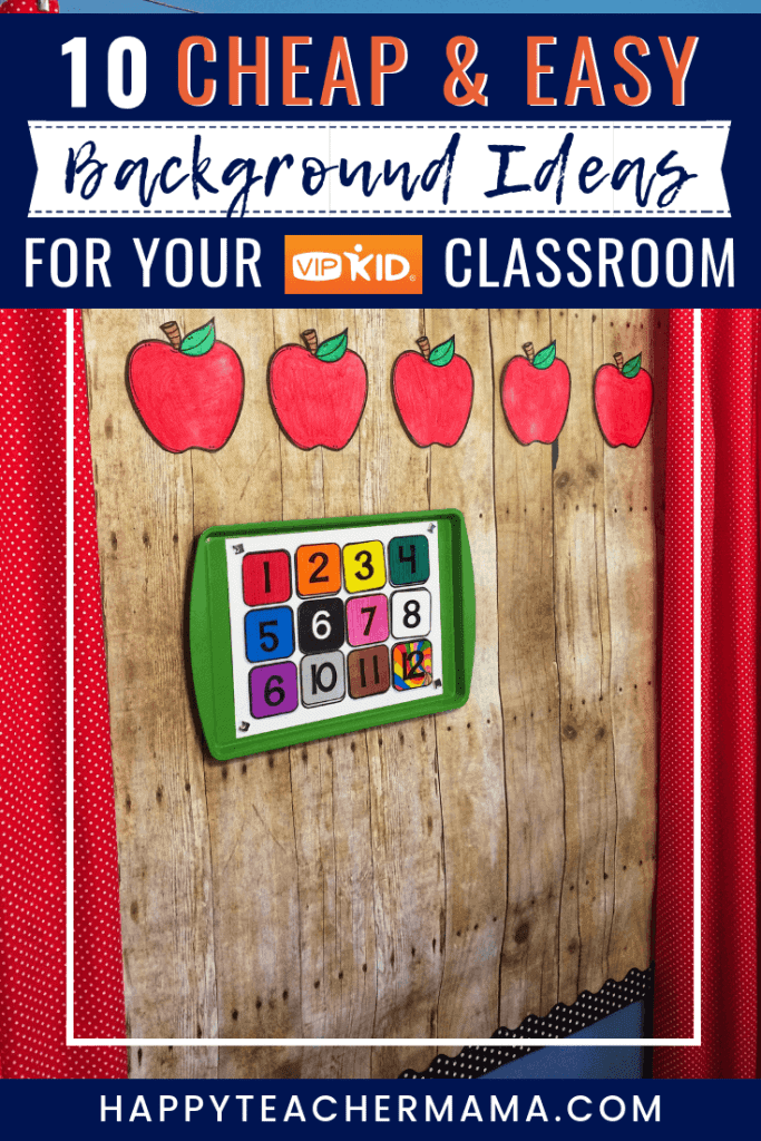 Creating an interesting background for your virtual classroom is extremely important, but it can also be expensive. Discover 10 cheap and easy VIPKID background ideas for your classroom. From fun, portable backgrounds for traveling teachers to permanent backdrops using metal pans, this list has them all! My favorite is definitely a combination of 4, 5, & 7. #VIPKID #VIPKIDclassroom #virtualteacher