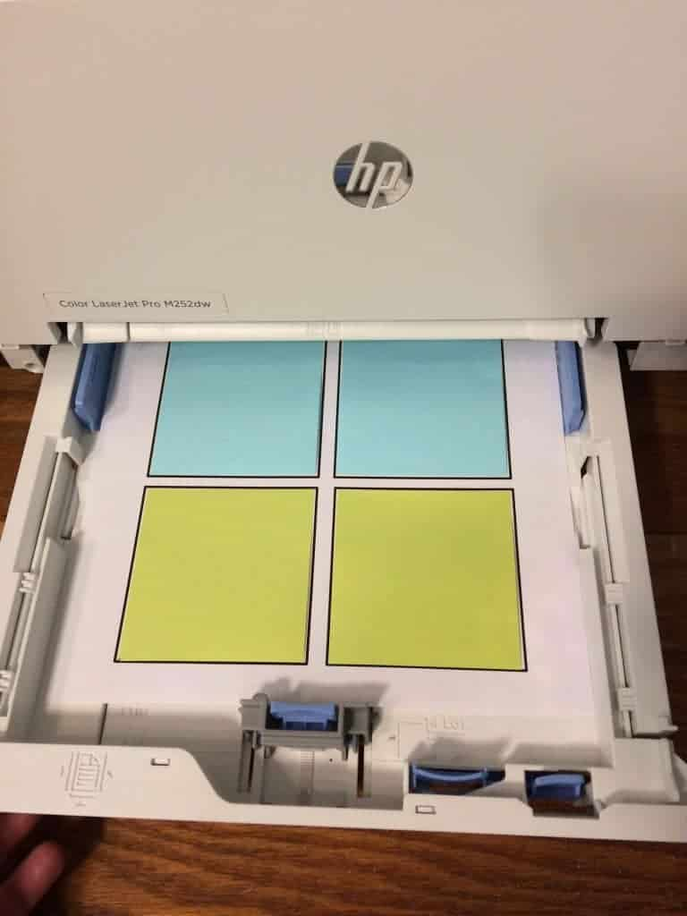 Want to know how to print on post it notes? This post will give you step by step instructions for how to print your own custom sticky notes. Also, get a free template that you can use right now! These printed sticky notes are so cute and a fun way to help you get organized. #stickynotes #postitnotes #organization