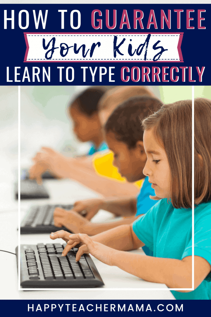 Teaching kids to type used to be the responsibility of teachers in the keyboarding classroom. But, now helping kids learn to type has become our responsibility as parents. Find ideas to use in school or at home to teach typing, and we love the inexpensive typing program she mentions! Definitely need to remember these simple learning suggestions. #kidsandtyping #typingprogram