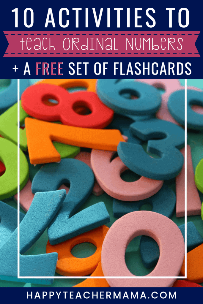 Although they first get introduced in preschool and kindergarten, ordinal numbers are essential to everyday life! So, we want to make sure our kids understand what they are and what they mean. Find 10 engaging activities and a FREE set of flashcards! #numbers #printables #free #kids #preschool