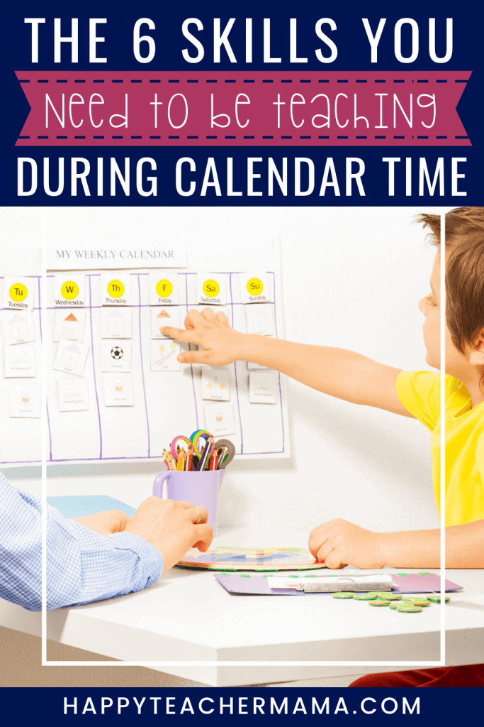 Having a classroom calendar is essential to most early elementary classrooms. Whether it is a bulletin board or just slapped on a wall, kids benefit from the skills they learn during calendar time. Find ideas and links to printables that will help you make the most of your classroom calendar time. #calendar #classroom #teaching #homeschooling