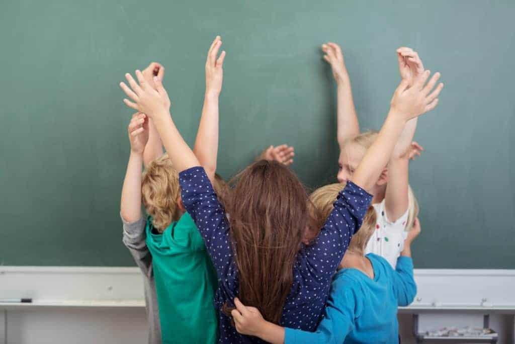 Kids celebrating the importance of classroom community
