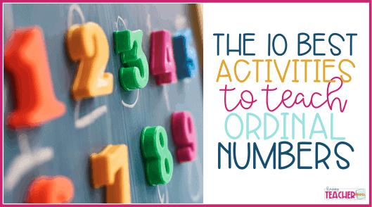 Ordinal Number Activities: 10 Ways to Teach This Life Skill