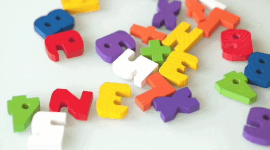 wooden letters and numbers to use when homeschooling kindergartners