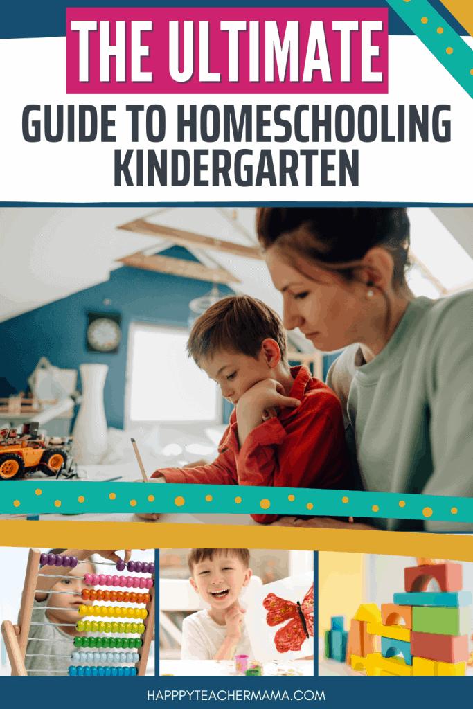 Kindergarten homeschool with mom