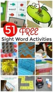 collage of second grade sight word activities with text overlay