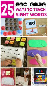 collage of sight word activities for second graders with text overlay