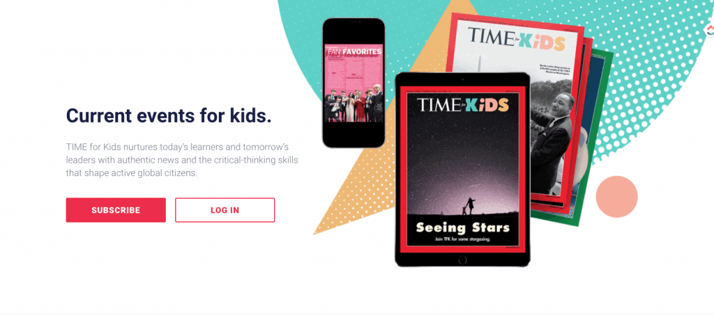 screenshot of Time for Kids